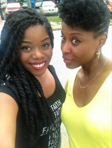 Patricia and I Rocking Twists and an Updo