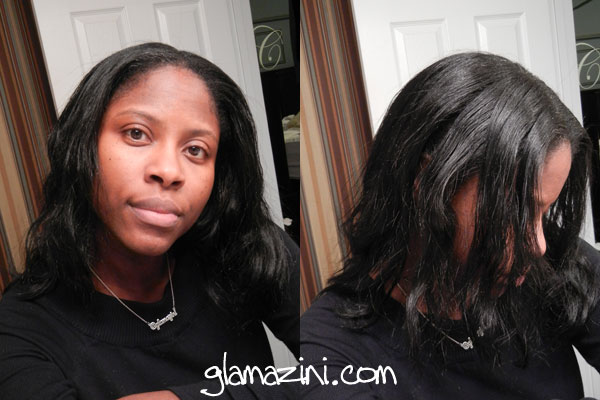 Natural hair pressed twistout