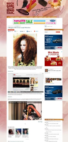 Glamazini Featured on Black Girl With Long Hair • 5 Bloggers With Great Length Retention
