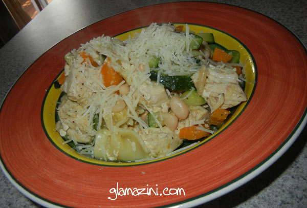 Farfelle with Zucchini, White Beans and Chicken