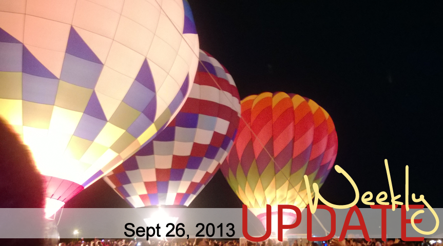 Balloon Glow & Making Up My Bed
