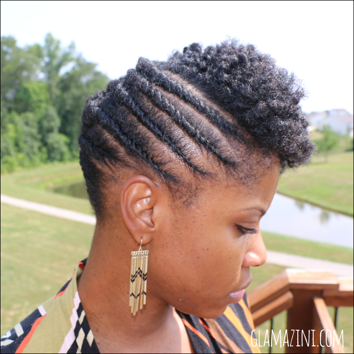 Flat Twistout Updo W Twisted Bangs Natural Hairstyle Tutorial