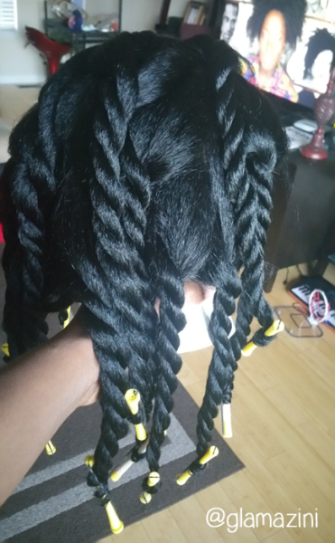 kinky straight wig twistout