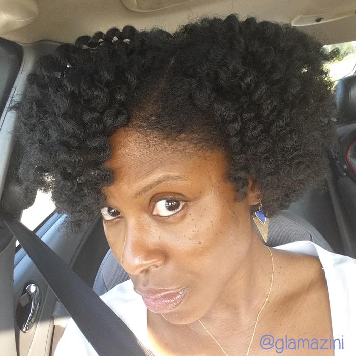 last week\'s natural hair - failed wash & go and twistout - Glamazini.com