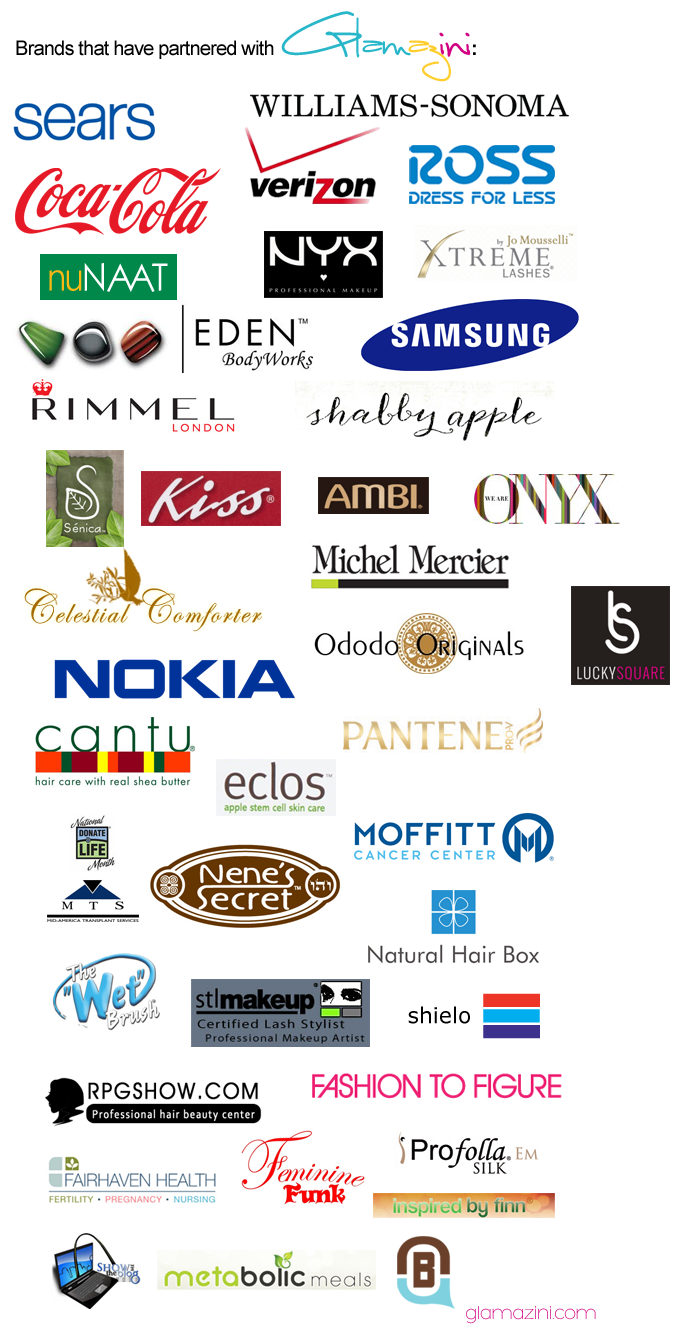 Brands That Have Partnered With Glamazini.com