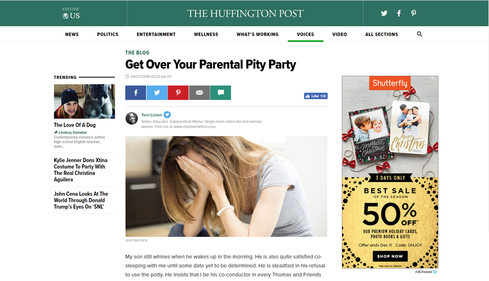 Get Over Your Parental Pity Party — Glamazini Featured In The Huffington Post