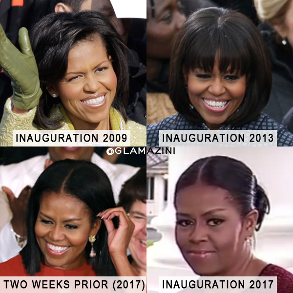 Michelle Obama Inauguration hair