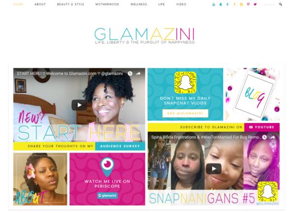 Glamazini.com Website Blog Redesign 2016