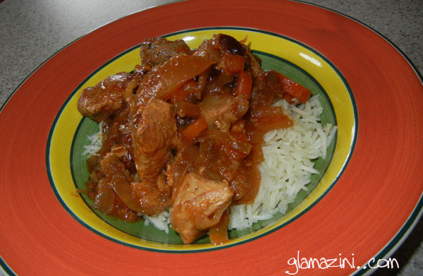 Chicken Tagine Over Basmati Rice