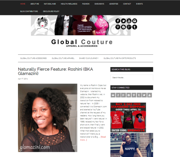 Glamazini on Global Couture Blog