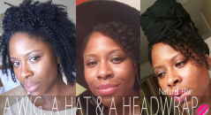 curly wig hat headwrap natural hair