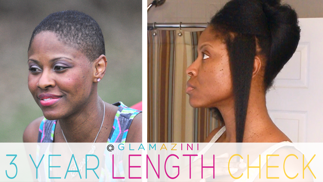 3 Years Since Bald • Natural Hair Length Check [video]
