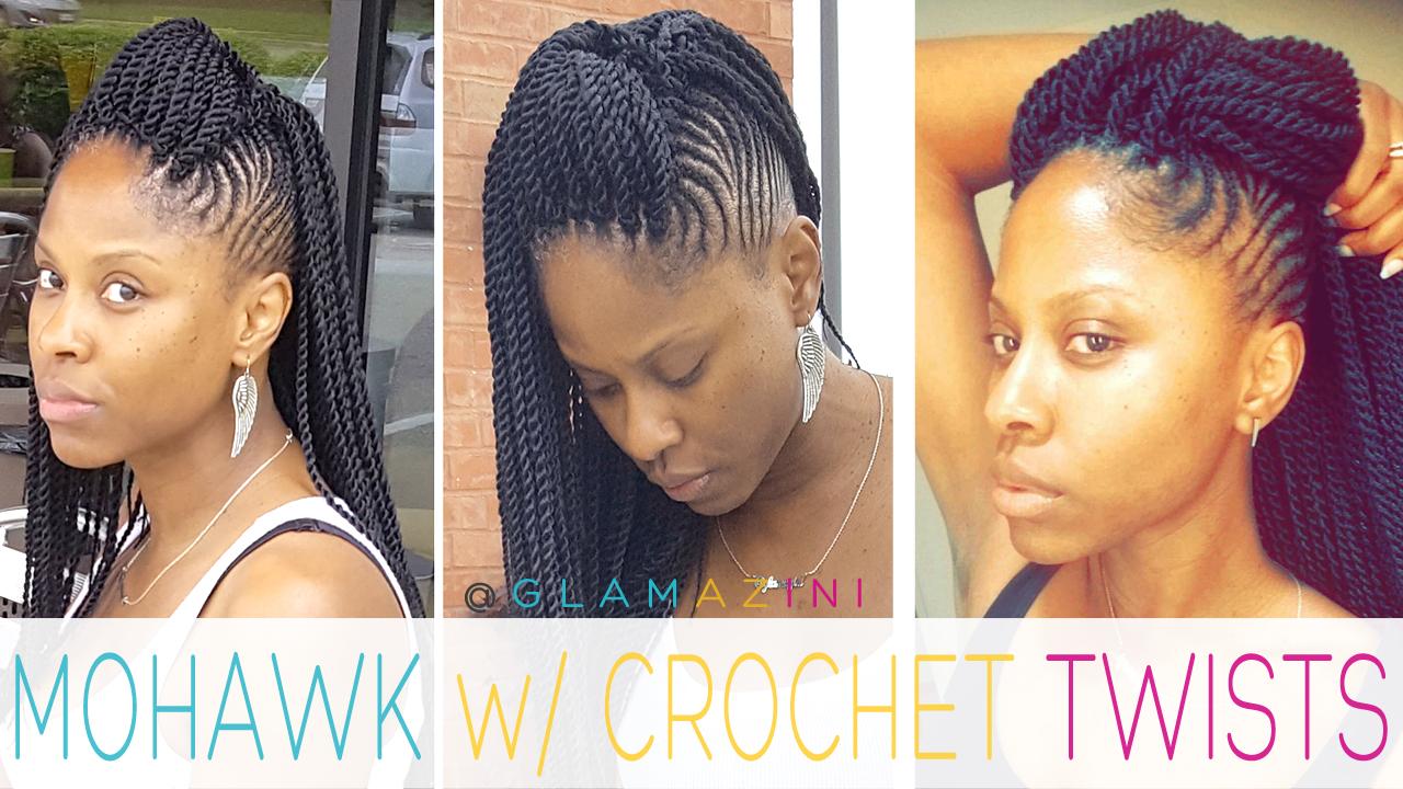 Cornrow Mohawk w/ Crochet Senegalese Twists [video]