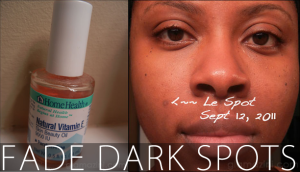 how to fade dark spots hyperpigmentation using vitamin e