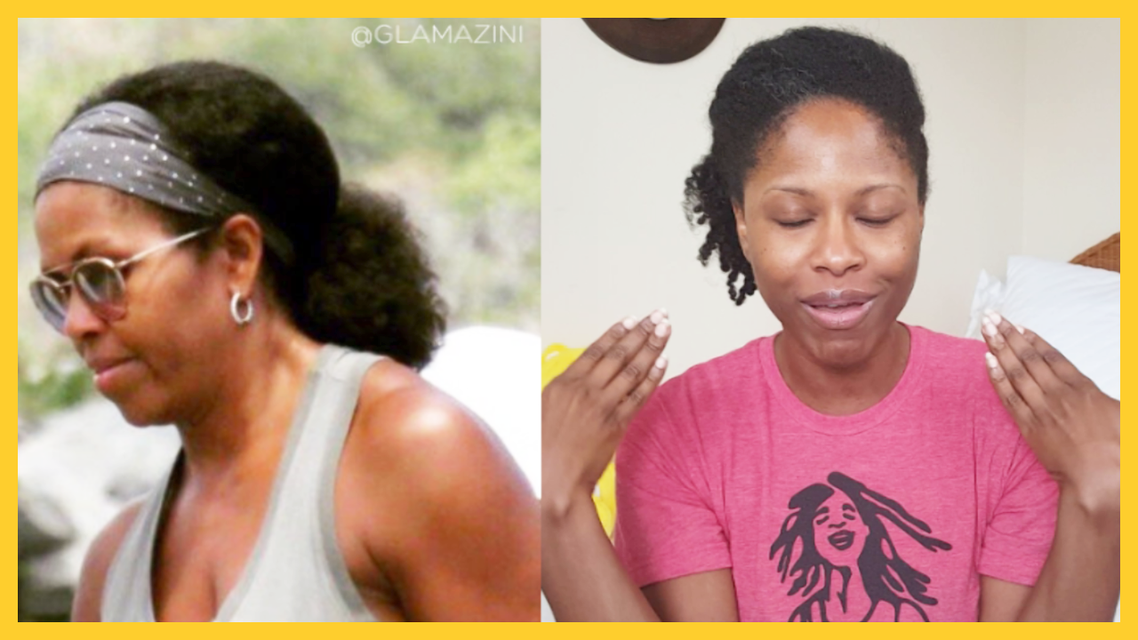 Michelle Rocking Natural Hair Bathed In The Butters!