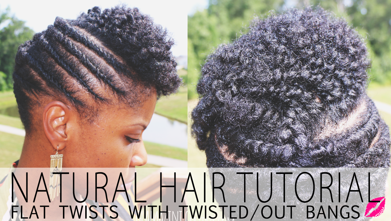 Flat Twistout Updo w/ Twisted Bangs • Natural Hairstyle Tutorial