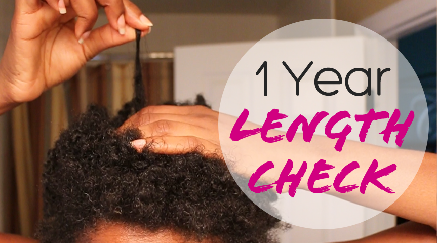 1 Year Since Bald | Natural Hair Length Check