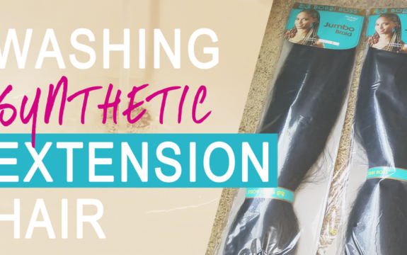 Washing Synthetic Extension Hair Before & After Wearing [video]